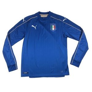 Puma Italia futbol long sleeve soccer jersey